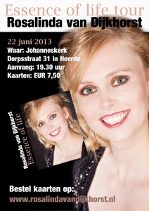 Flyer Essence of life tour Heerde 22 juni 2013