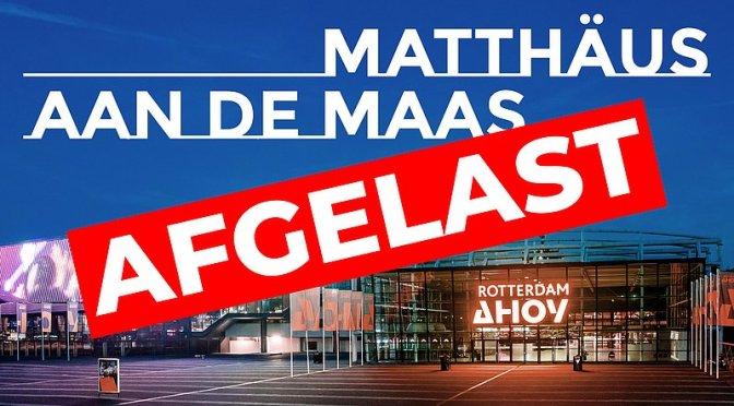 EO-evenement Matthäus aan de Maas afgelast
