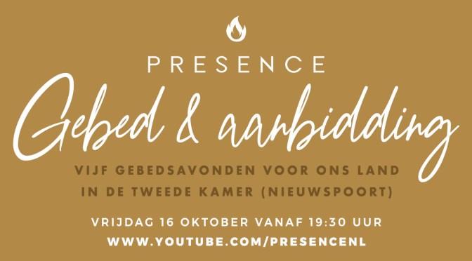 Presence organiseert elke vrijdag een gebedsdienst vanuit Nieuwspoort