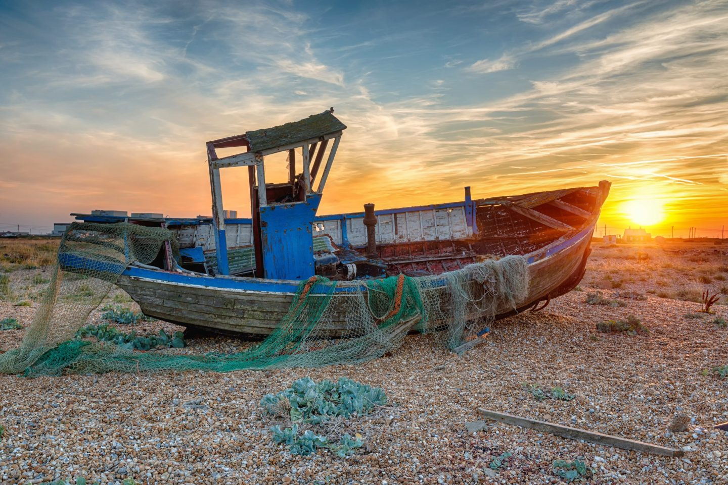 sunset in Dungeness