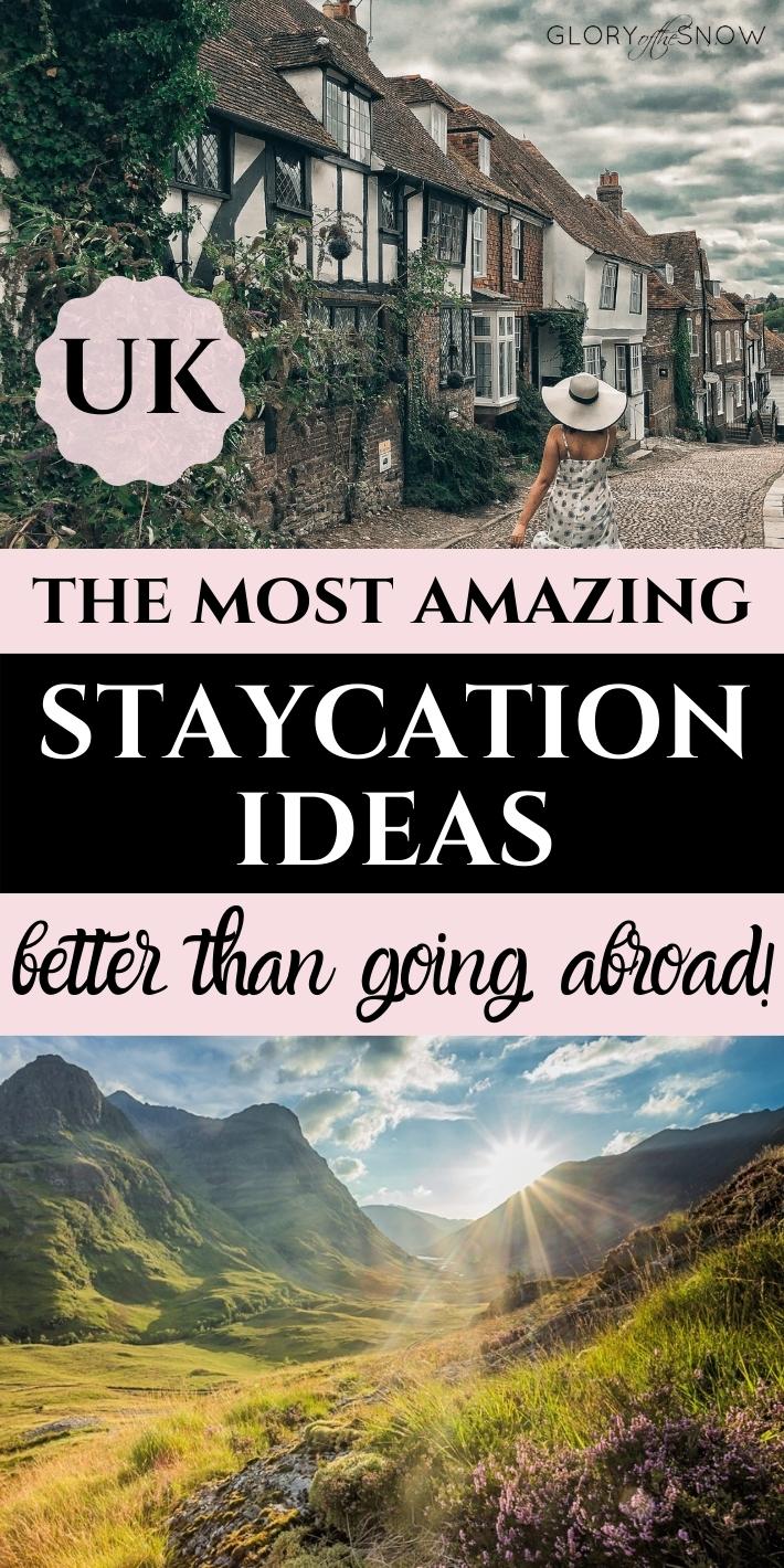 best UK staycation ideas