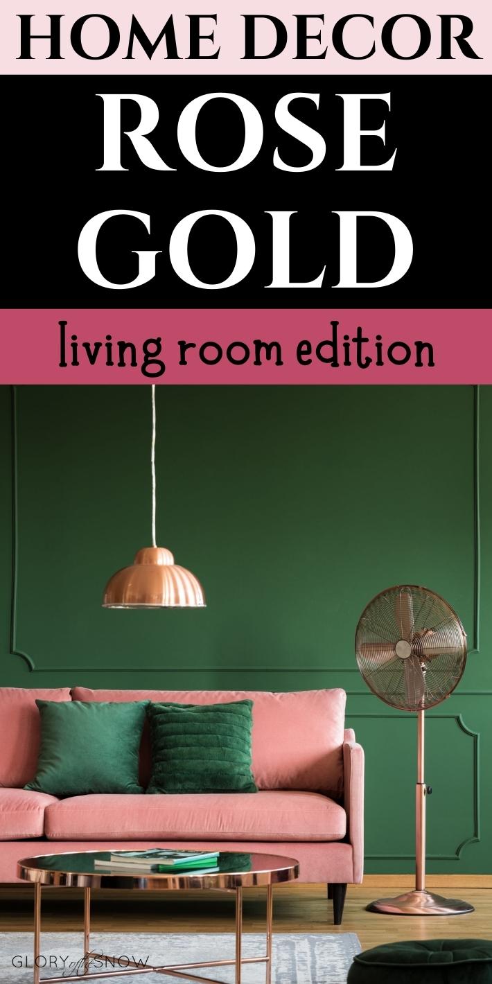 Home Decor Inspiration: Rose Gold Living Room Ideas