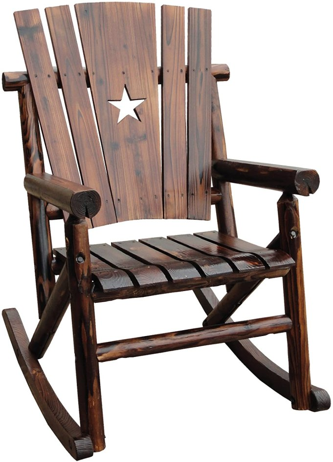 Wooden Rocking Chair With A Star