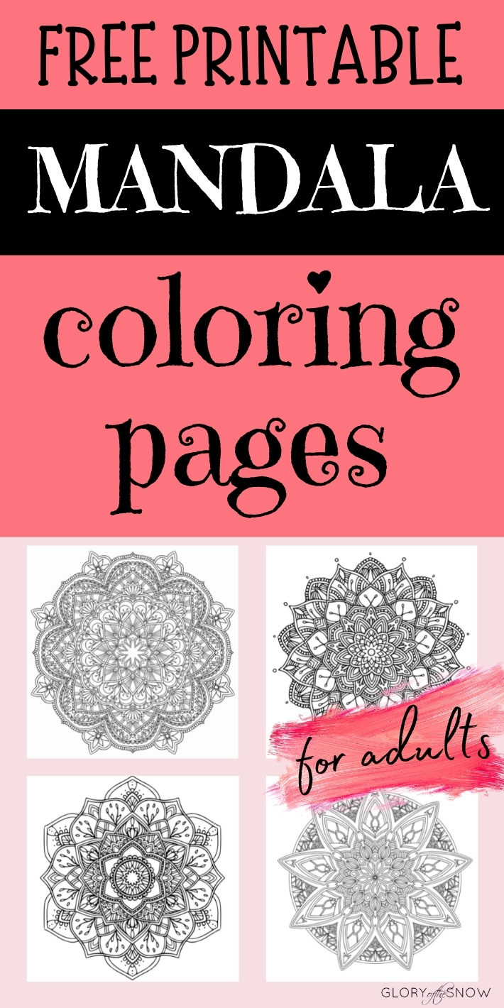 free printable flower and abstract mandala coloring pages for adults pdf