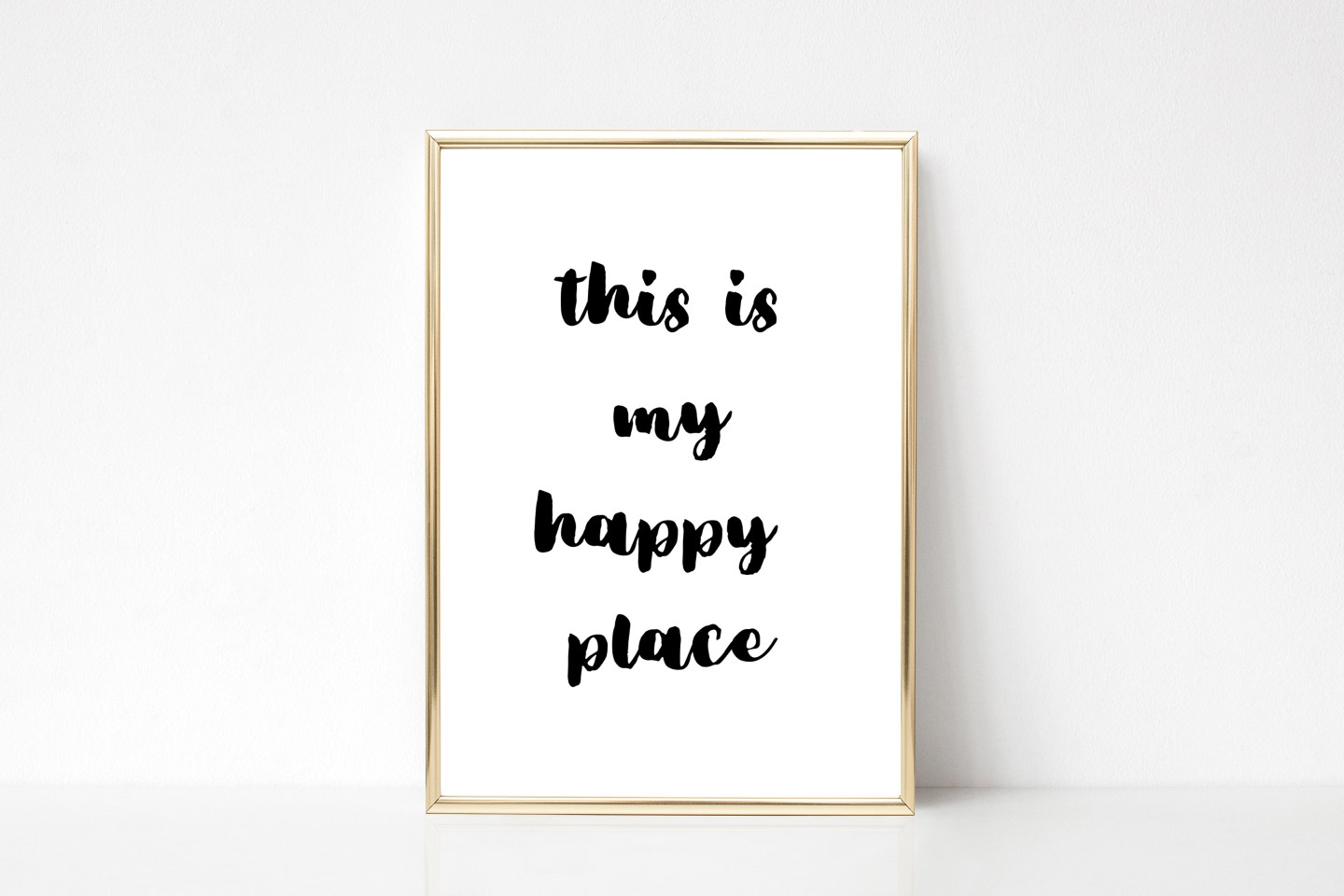 Free Printable Bedroom Wall Art: This Is My Happy Place