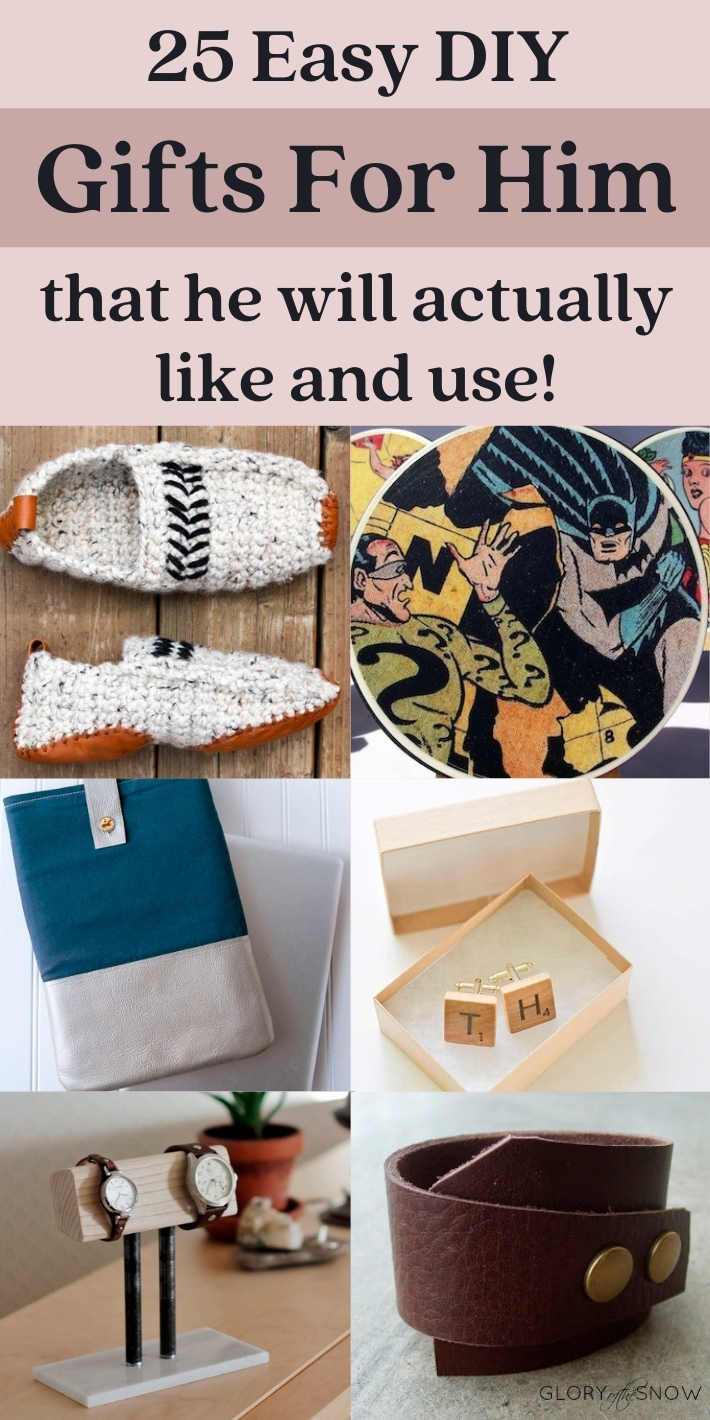 Easy DIY Gifts For Him That He'll Actually Like And Use