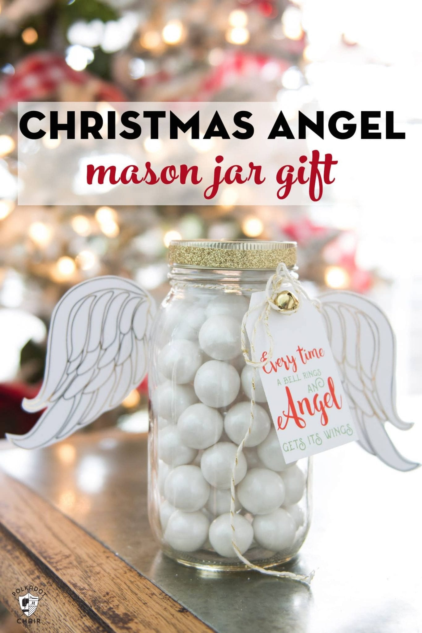 Creative DIY Christmas Gifts: Christmas Angel Mason Jar Gift