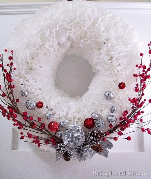 DIY Coffee Filter Christmas Wreath