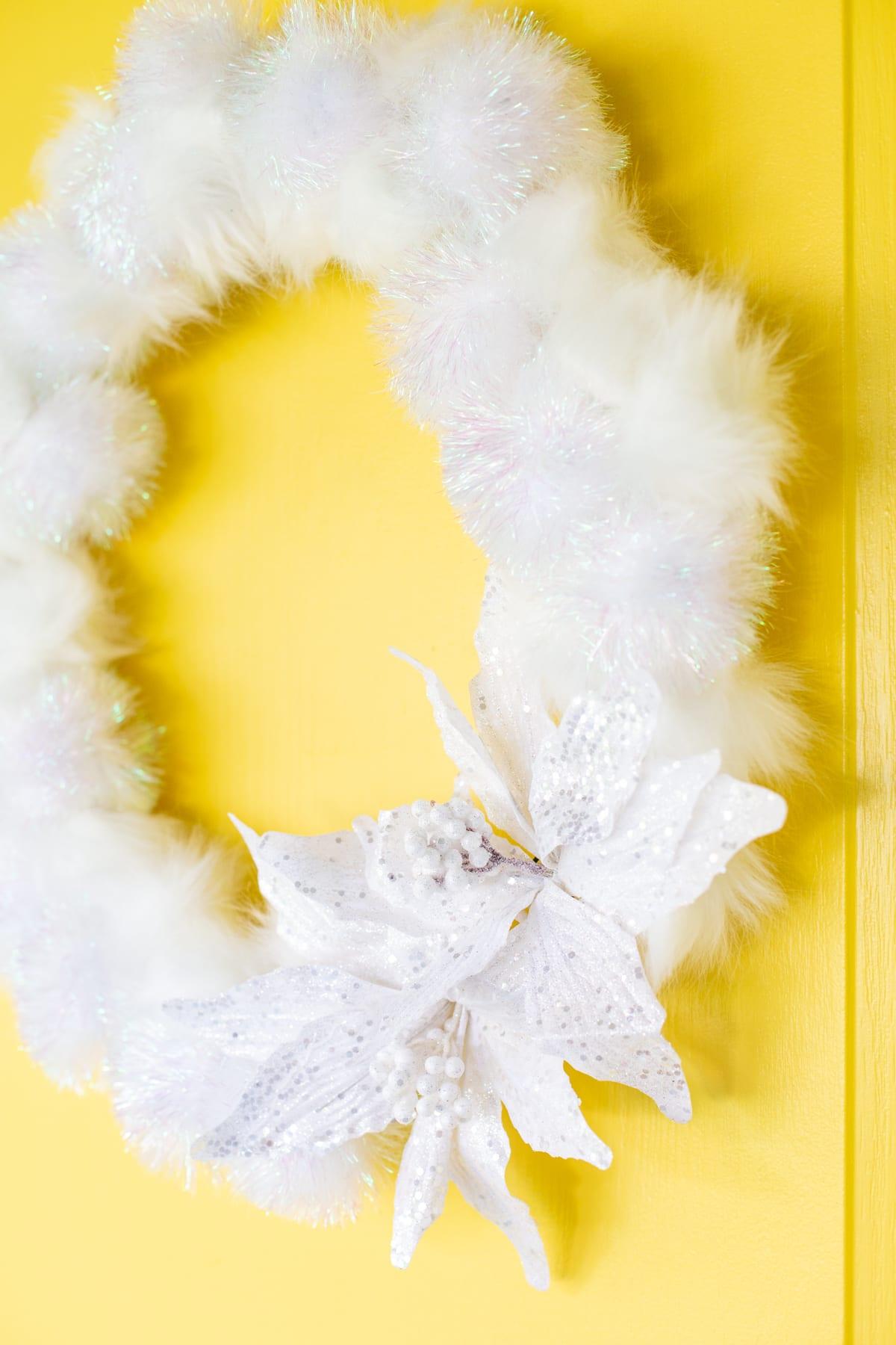 DIY Fluffy Winter Wreath
