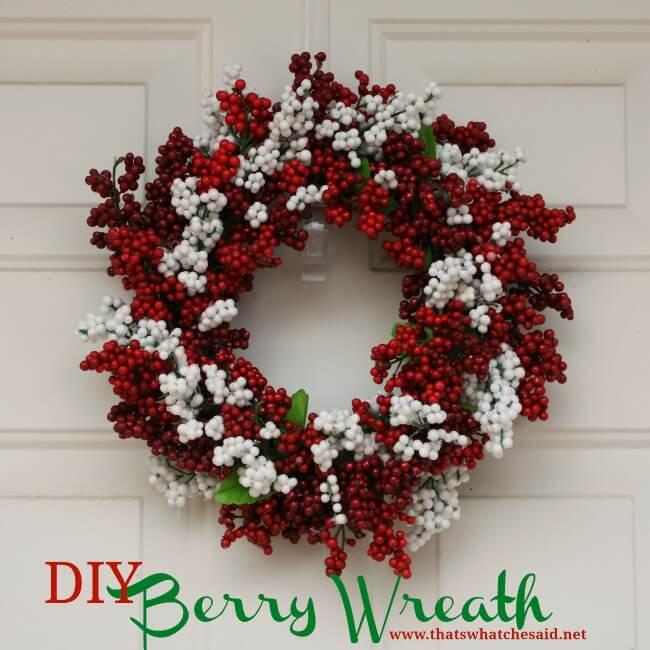 DIY Festive Berry Wreath