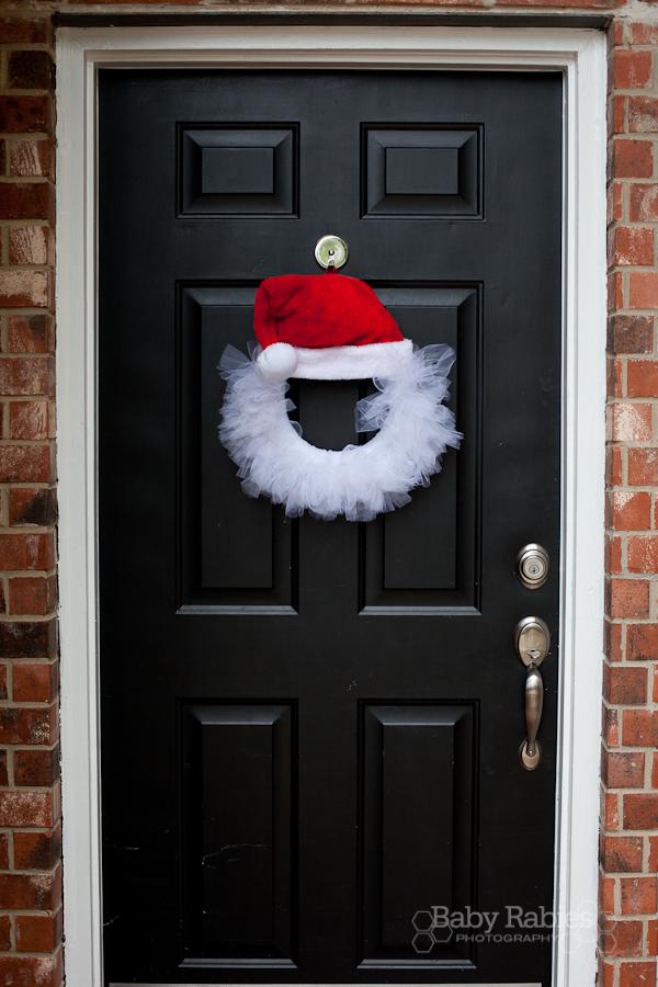 DIY Santa Tulle Wreath