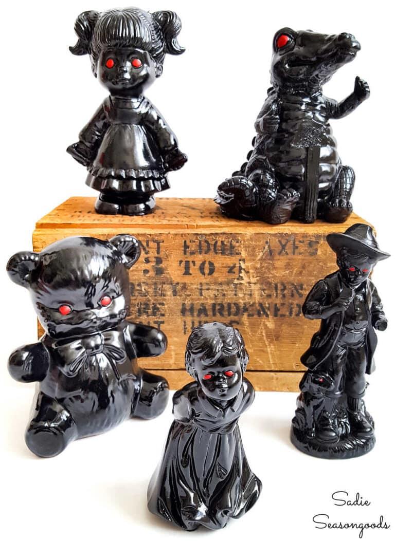 DIY haunted figurines