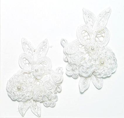 Beaded Applique Crochet Floral