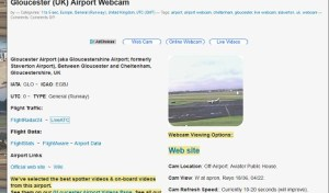 Gloucestershire Airport Webcam is now listed on the Airport Webcams site.