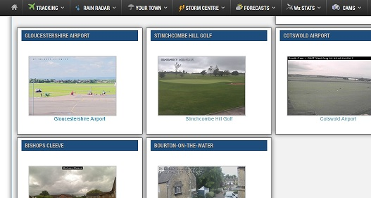 The Glos Airport Webcam is now featured on the Cotswold Weather site