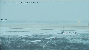 Gloucestershire Airport is snowed in.