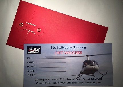 A Helicopter flight pleasure gift with a guest for 45 minutes.