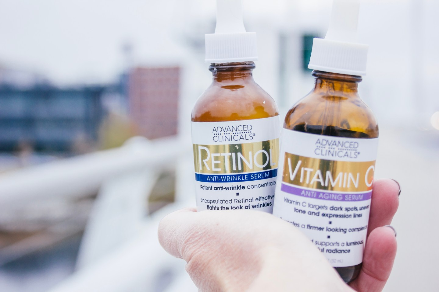 Advanced Clinicals Retinol Serum and Vitamin C Serum