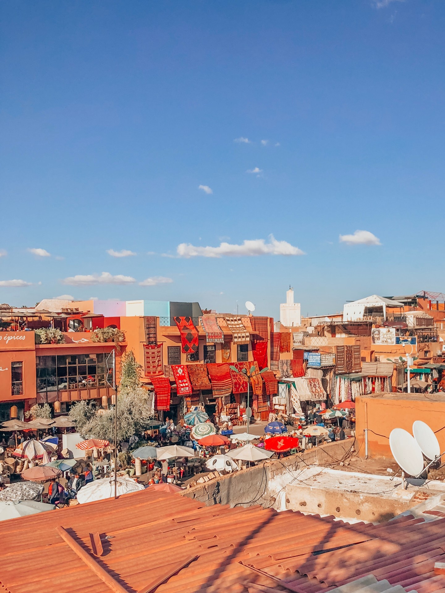 Marrakech, Morocco—Rooftop View of the Old City