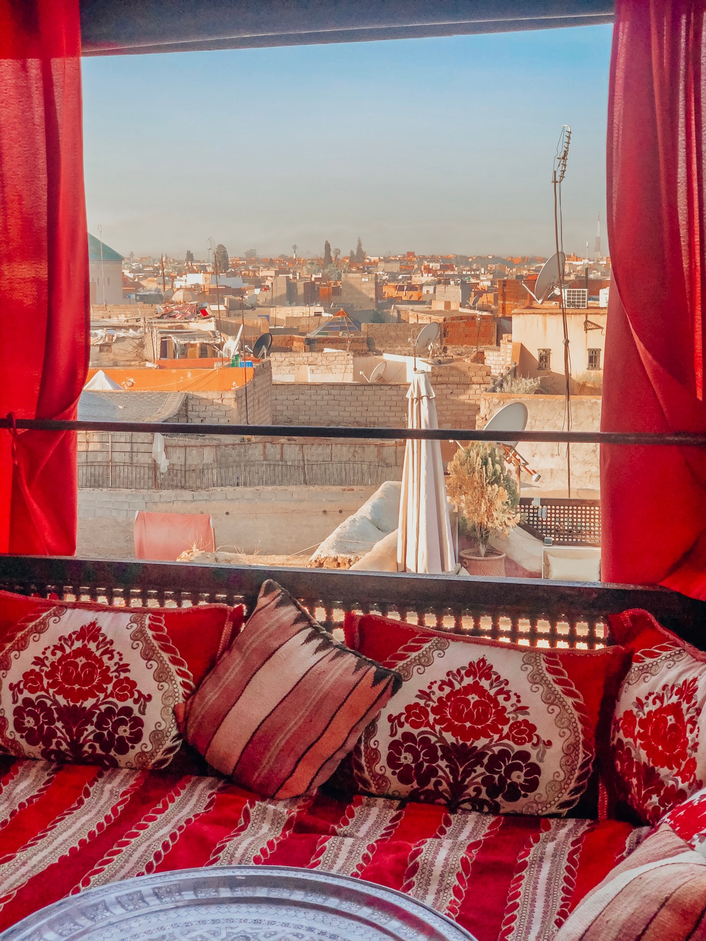 Riad Anayela's rooftop view—Marrakech, Morocco