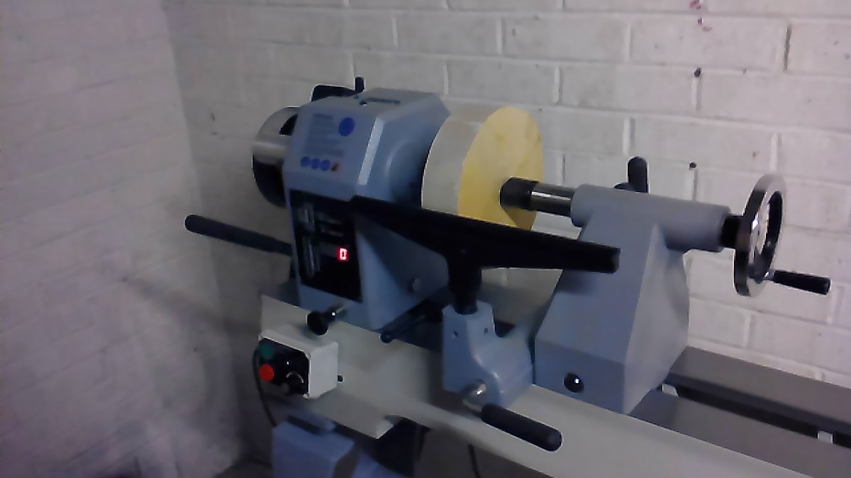 Blank in the lathe