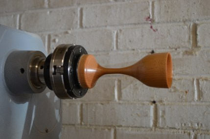 Small goblet on a lathe