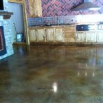 Glossy Floor with Slip Resistant Coating  Interior Stained Concrete Floor Gallery IMG 1602 Copy