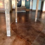 Lewis and Clark on the campus of the University of Arkansas  Interior Stained Concrete Floor Gallery 127