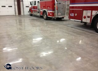 polished concrete Polished Concrete Gallery Centerton Fire Department 6