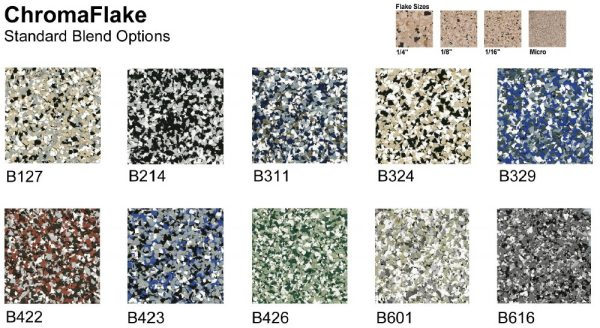 Epoxy Flake Color Chart  Stained Polished Concrete Color Chart Epoxy Flake Chart