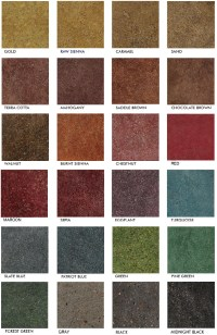 Stained Polished Concrete Color Chart | Glossy Floors