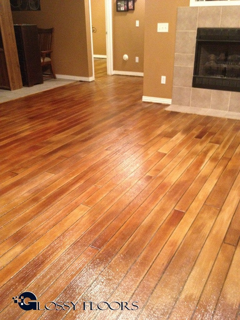 vinyl flooring that looks like stained concrete