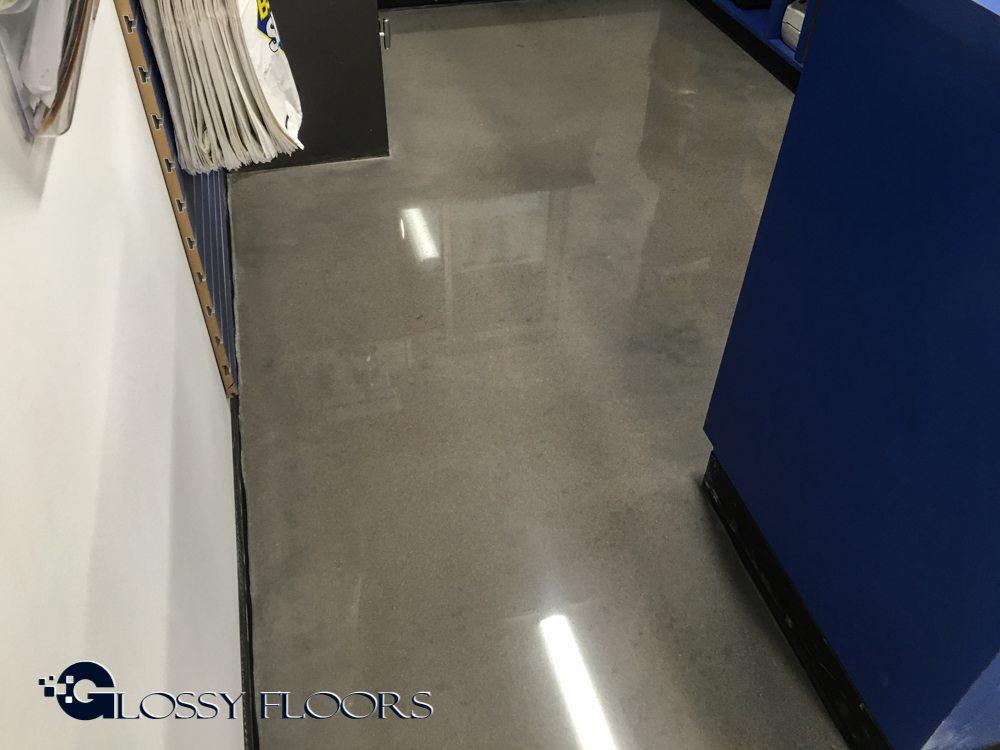polished concrete floors polished concrete floors u00268211 boss shop tulsa polished concrete floors