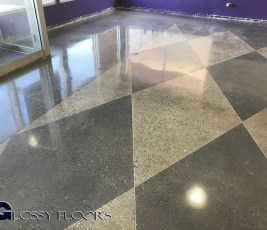 Stained Concrete Gallery Polished Concrete Mattress Showroom 90