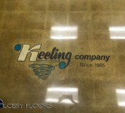 polished concrete with a multicolored logo Polished Concrete With A MultiColored Logo Polished Concrete Showroom with Logo 17