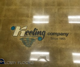 Stained Concrete Gallery Polished Concrete Showroom with Logo 17