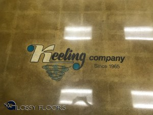 Polished Concrete With a Multicolored Logo polished concrete with a multicolored logo Polished Concrete With A MultiColored Logo Polished Concrete Showroom with Logo 17 300x225