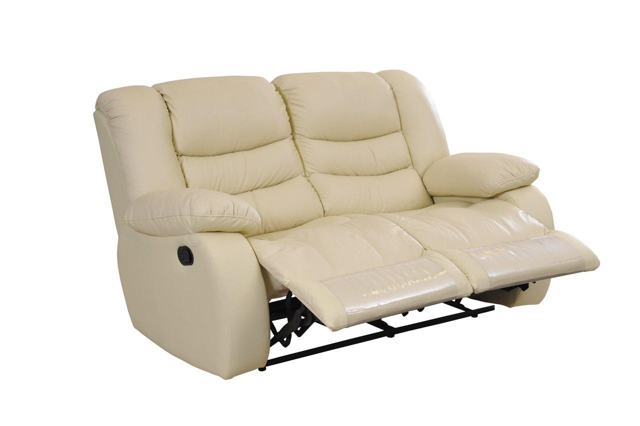 leather 3 seat sofa bed wooden set living room regio 2 comfortable luxury