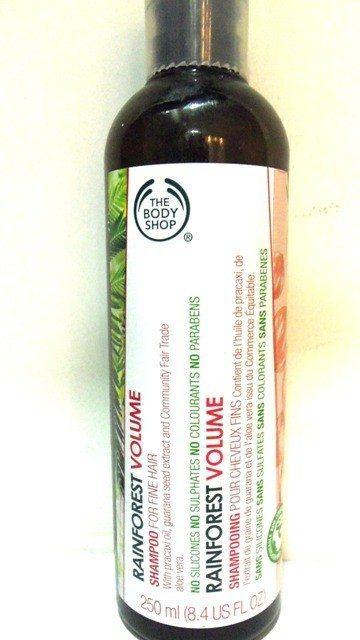 The Body Shop Rainforest Volume Shampoo Review 1