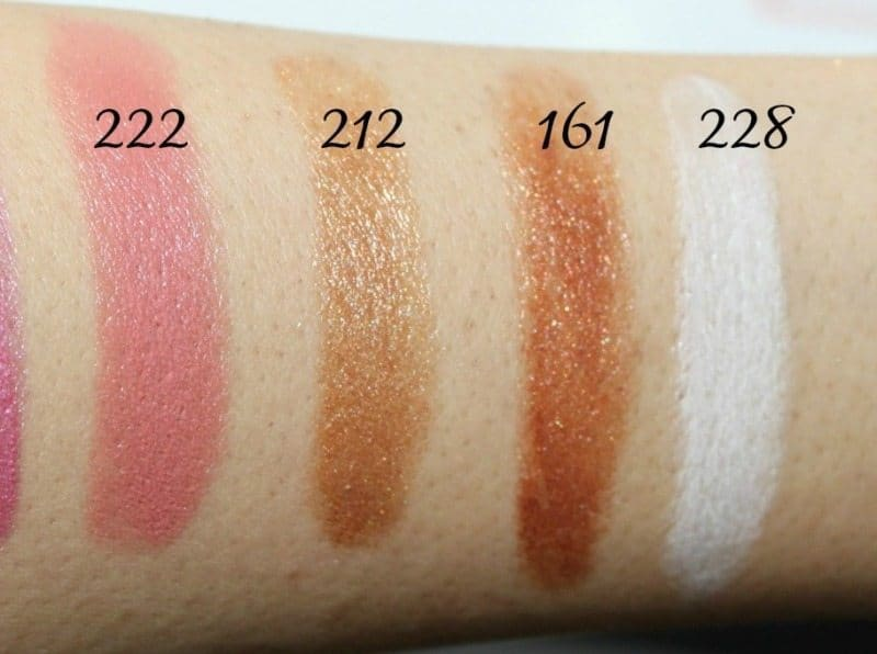 Inglot Lipstick swatches 1