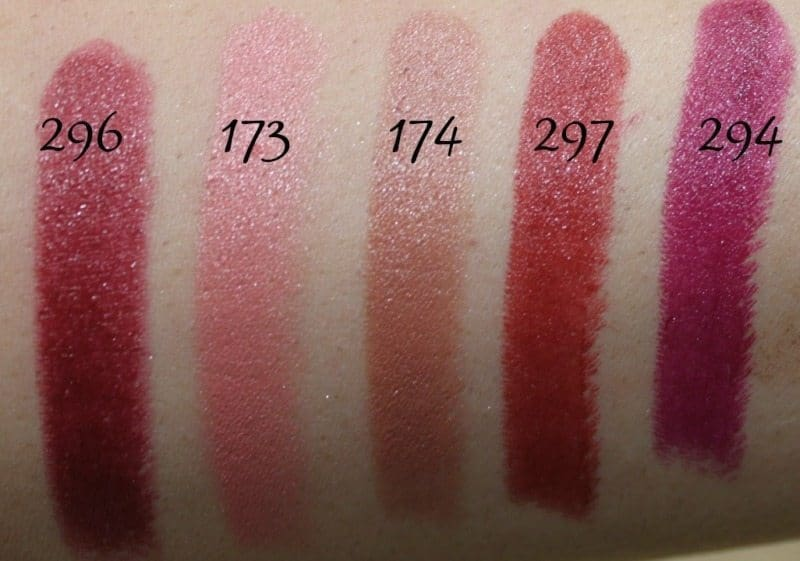 Inglot Lipstick swatches 25