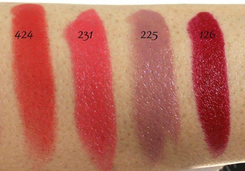 Inglot Lipstick swatches 3