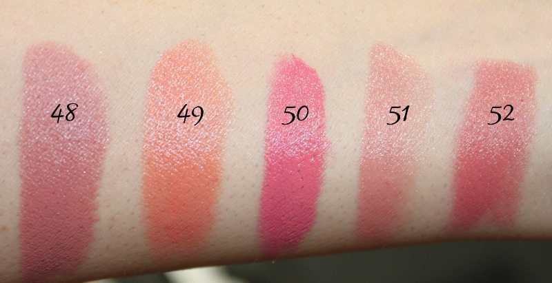 MAC Lipstick Swatches 15