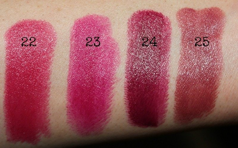 colorbar lipstick swatches 9