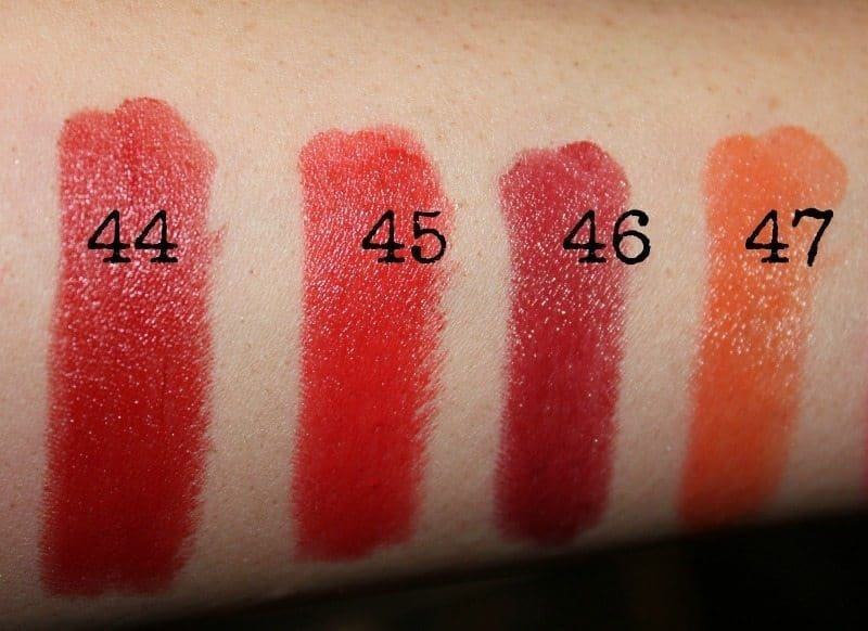 colorbar lipstick swatches 1