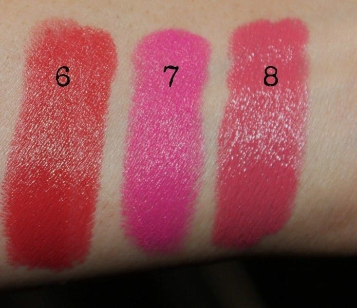 colorbar lipstick swatches 5