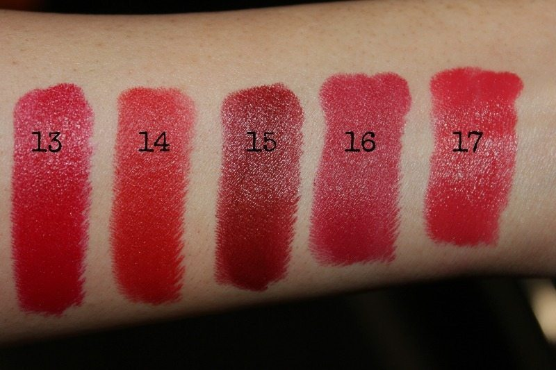colorbar lipstick swatches 7