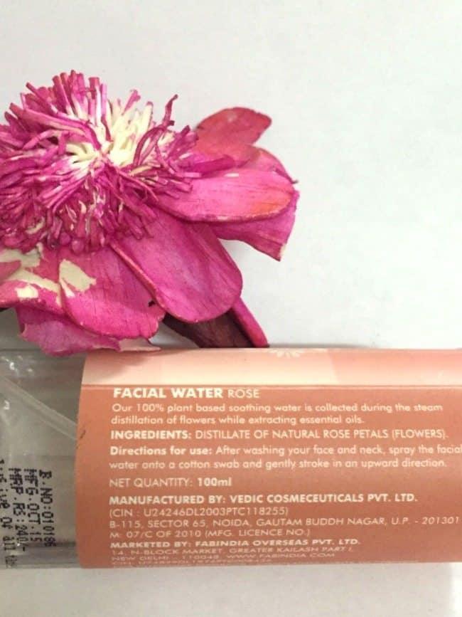 Fabindia facial water rose review 2