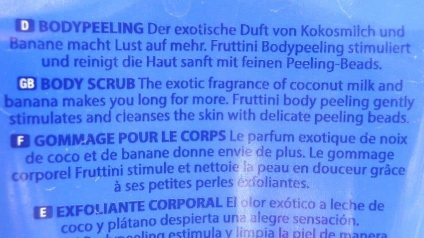 Fruttini Coco Banana Body Scrub Review 2