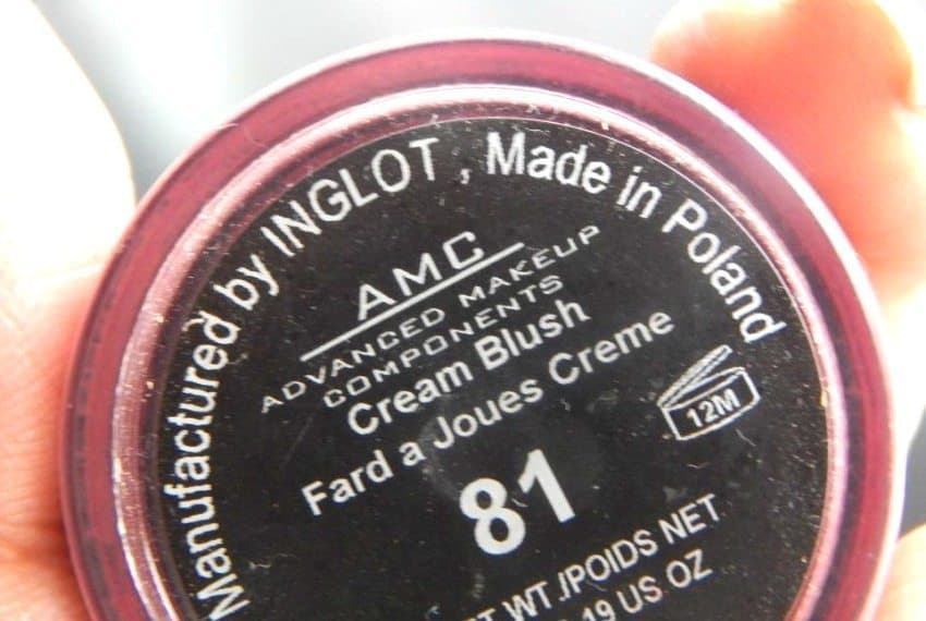 Inglot AMC Cream Blush 81 Review 3